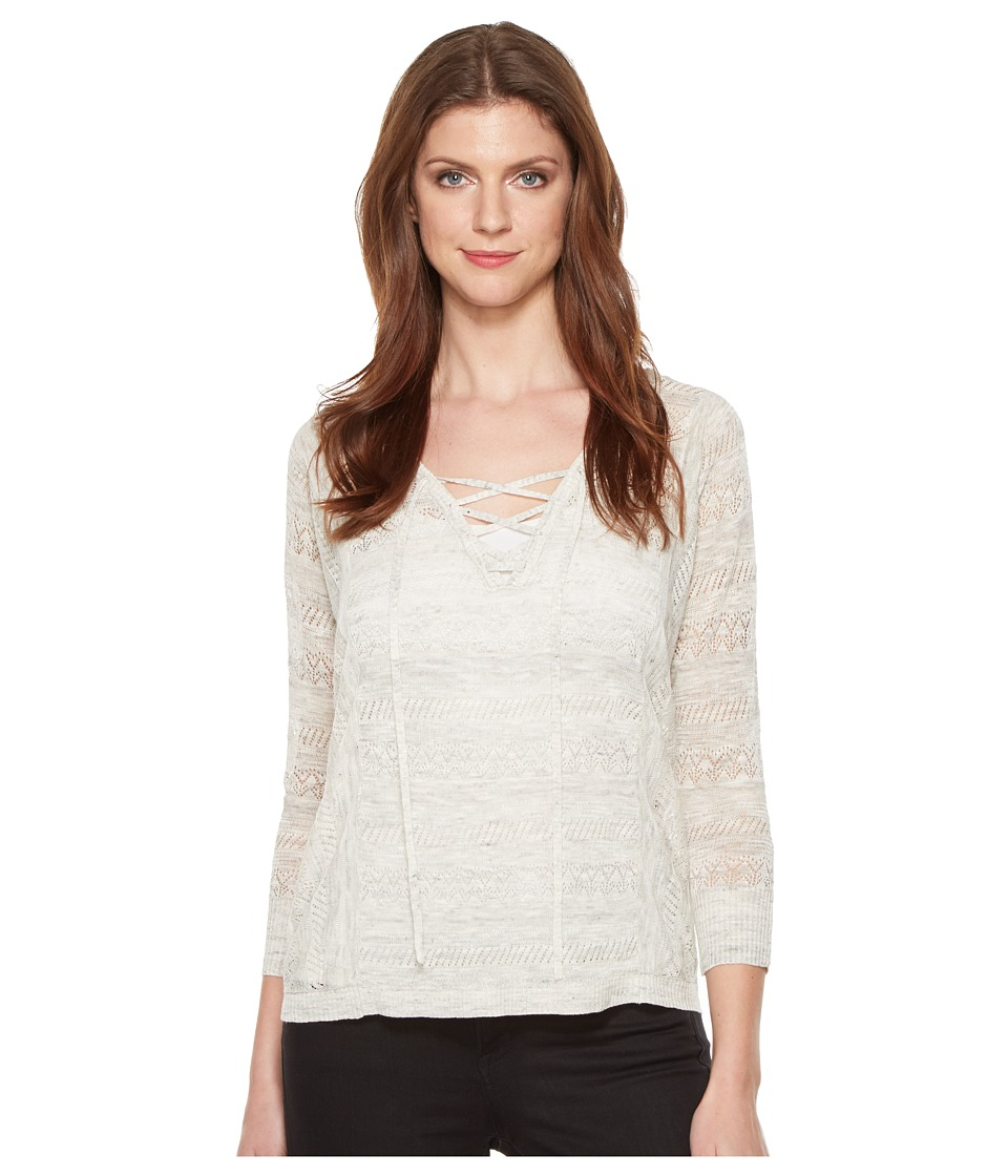 Lucky Brand - Lace-Up Pullover Sweater (Natural) Women's Sweater