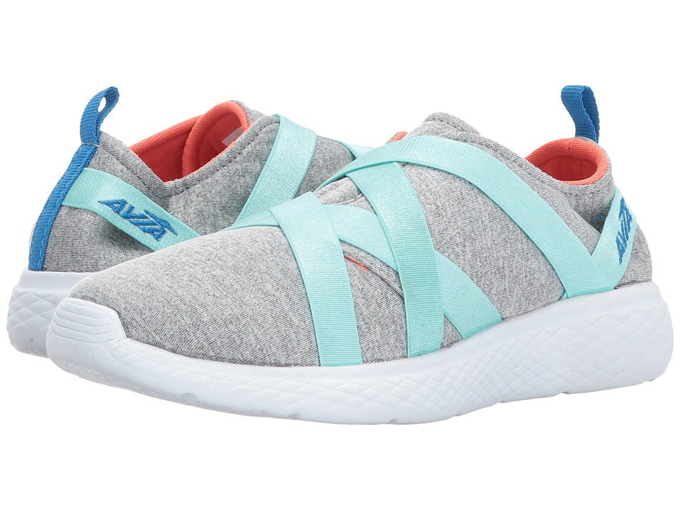 Avia Kids - Avi-Karma (Little Kid/Big Kid) (Chrome Silver/White/Aruba Aqua/Brilliant Blue) Girls Shoes