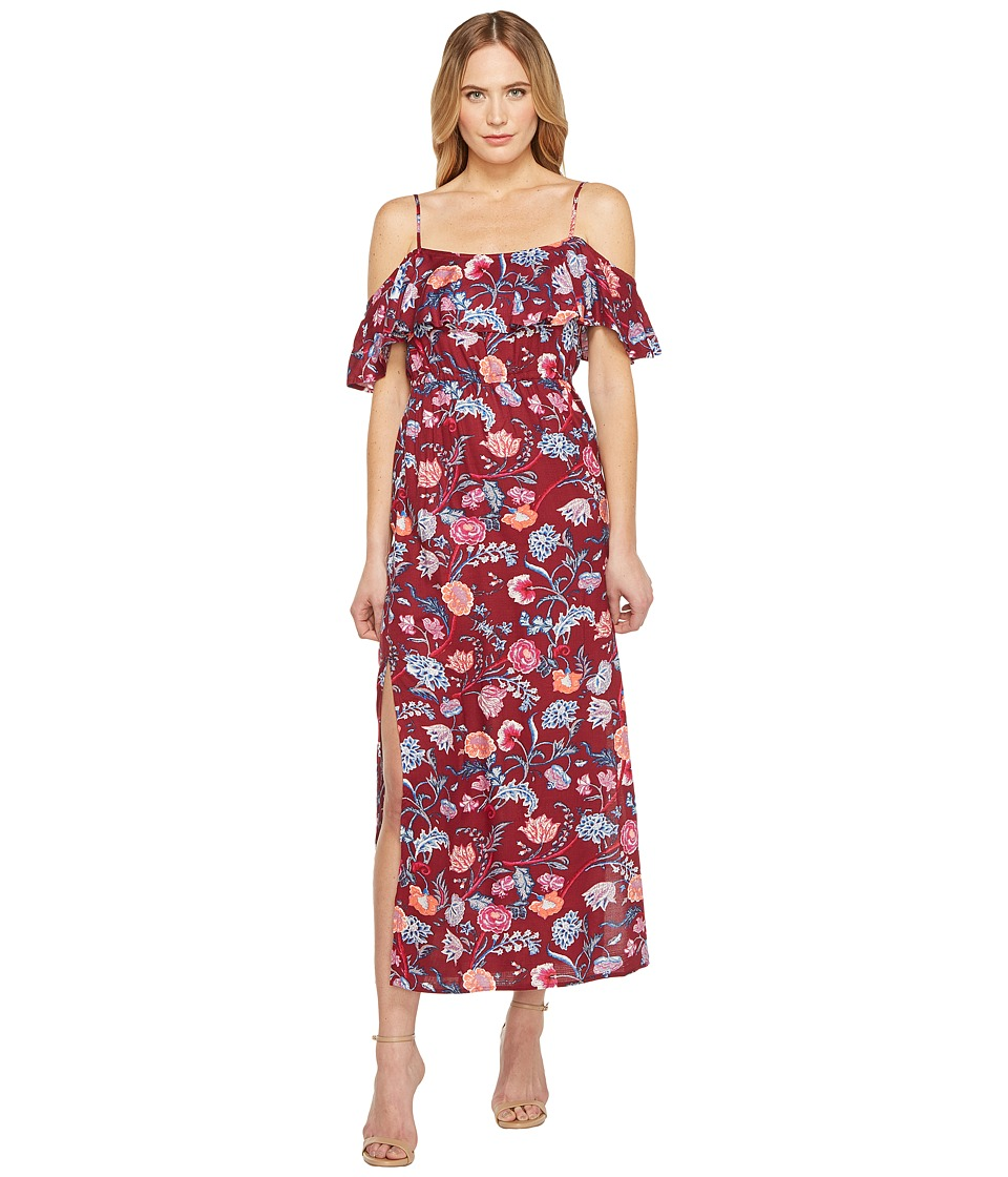 Lucky Brand Floral Maxi Dress (Red Multi) Women