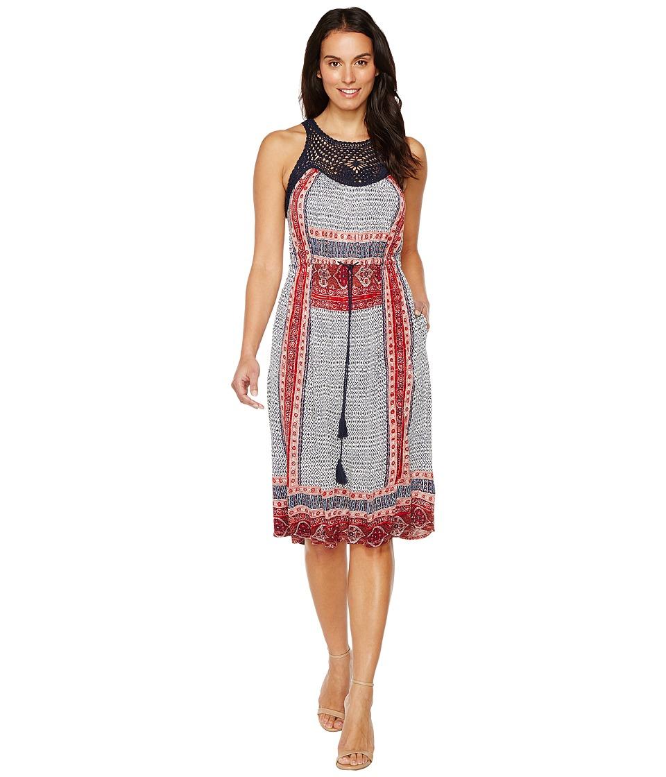 Lucky Brand - Knit Macrame Dress (Red Multi) Women's Dress