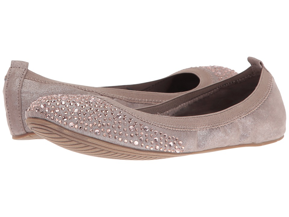 Kenneth Cole Unlisted - Whole Sparkle (Taupe Nova Suede) Women's Flat Shoes