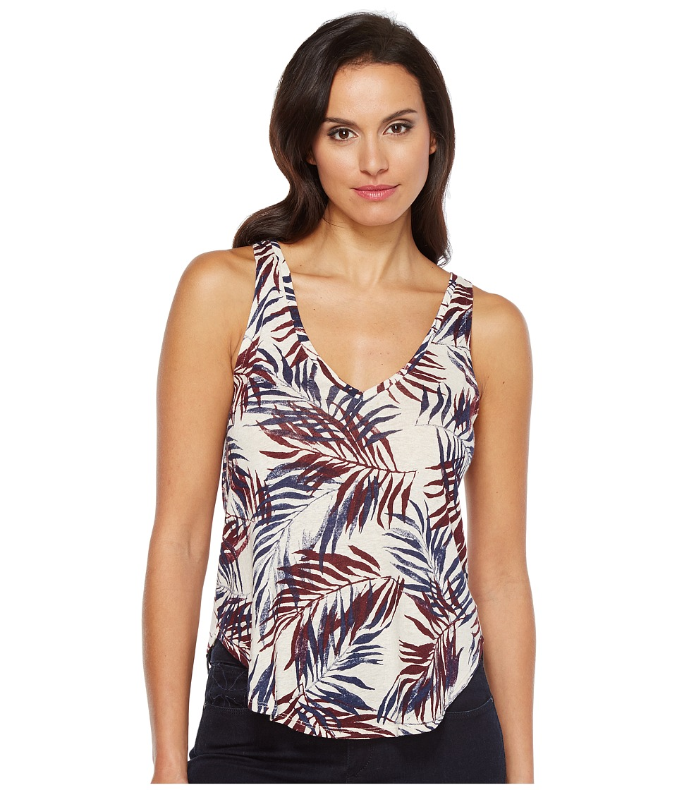 Lucky Brand - Palm Leaf Tank Top (Natural Multi) Women's Sleeveless