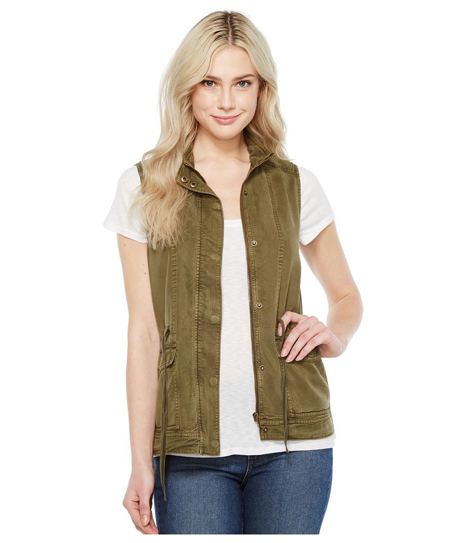 Lucky Brand Utility Vest (Dark Olive) Women