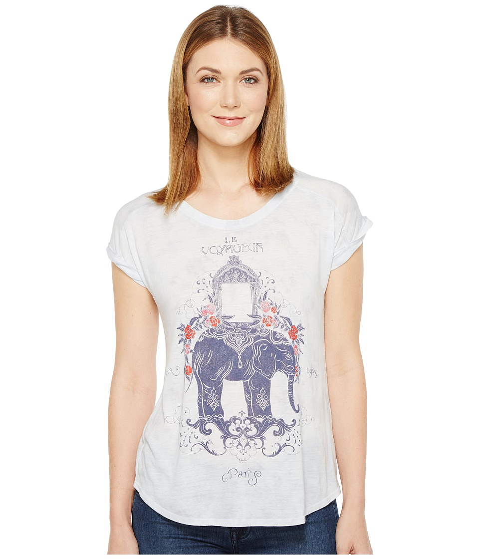 Lucky Brand - Elephant Tee (Grey Multi) Women's T Shirt