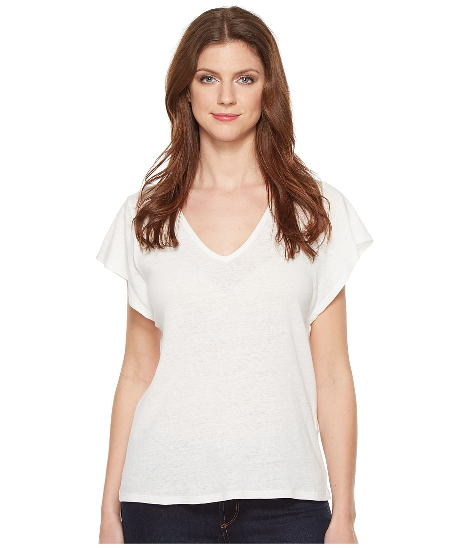 Lucky Brand V-Neck Tee (Lucky White) Women