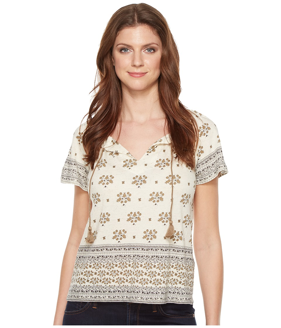 Lucky Brand - Border Printed Top (Natural Multi) Women's Clothing