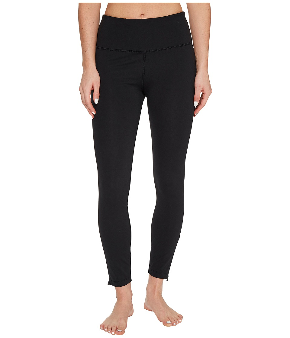 Lorna Jane - Zip Go Ankle Biter Tights (Black) Women's Casual Pants