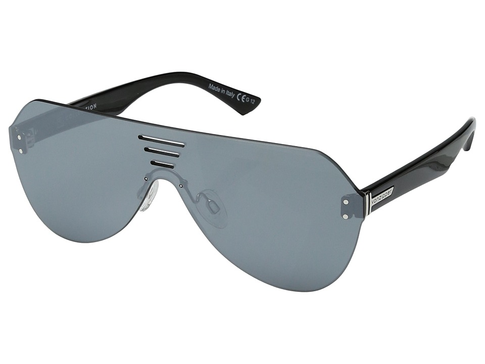 VonZipper - Alt-Farva (Black Gloss/Flash Silver) Fashion Sunglasses