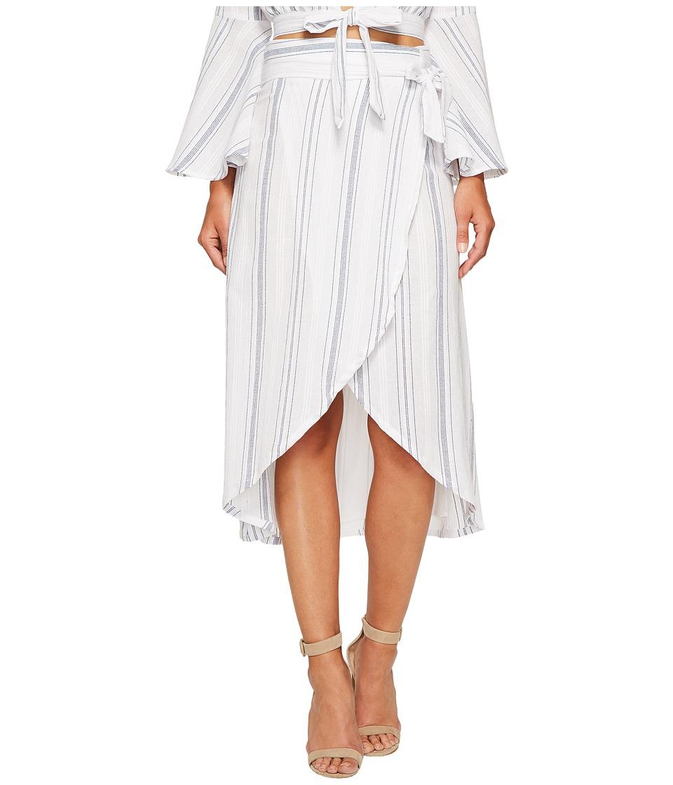 Clayton - Wrap Skirt (Coastal Stripe) Women's Skirt