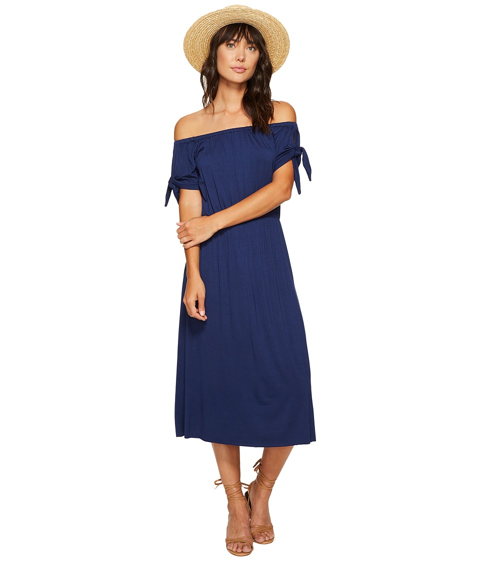 Clayton - Daliah Midi Dress (Navy) Women's Dress