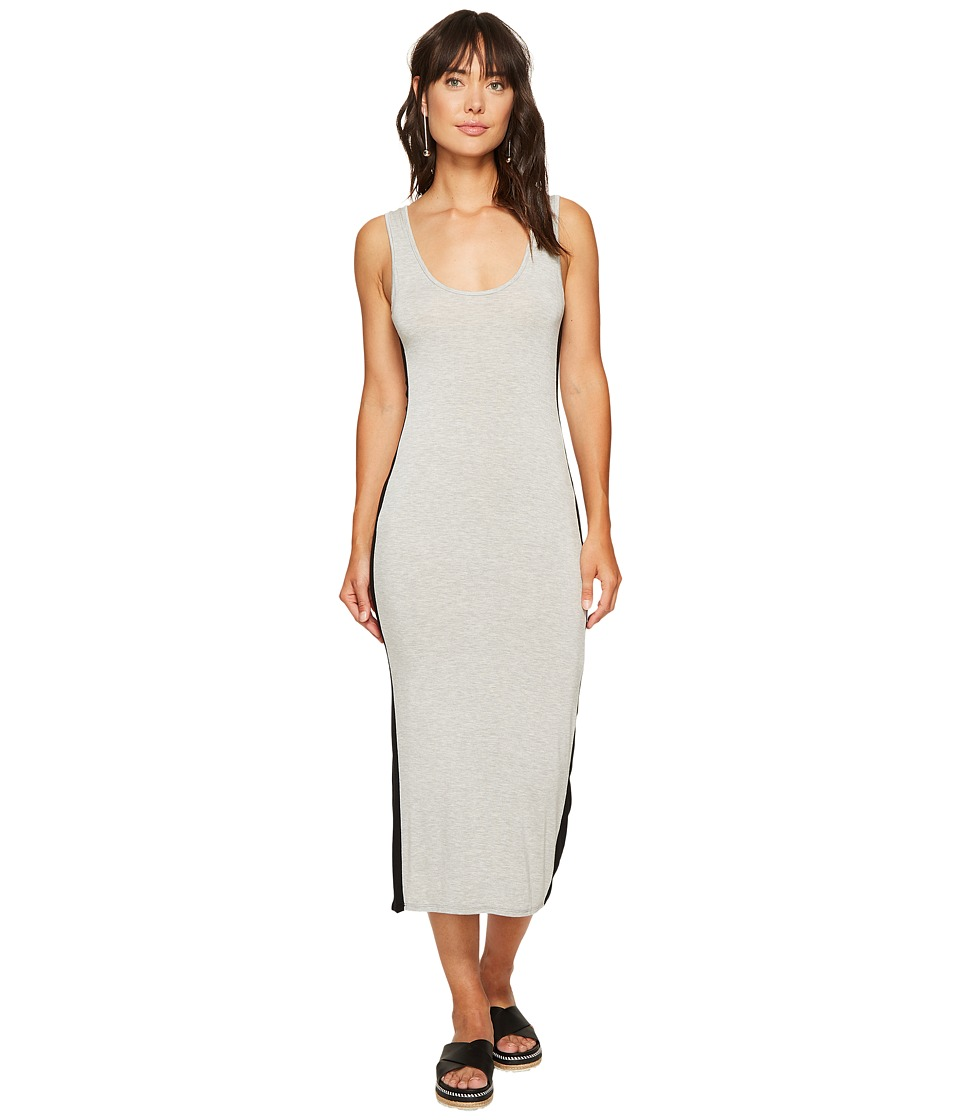 Clayton - Tegan Track Dress (Heather Grey/Black) Women's Dress