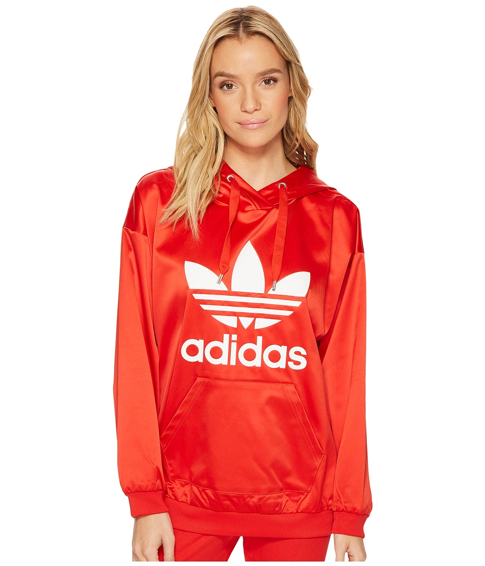 adidas Originals - Trefoil Hoodie (Vivid Red) Women's Long Sleeve Pullover
