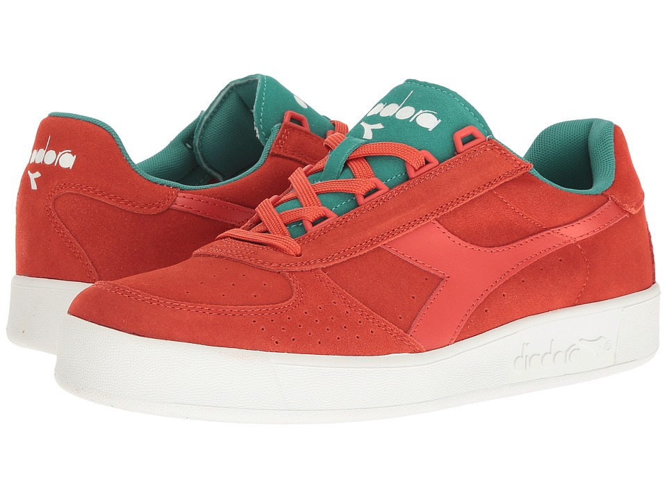 Diadora B.Elite Suede (Fiesta/Porcelain Green) Athletic Shoes