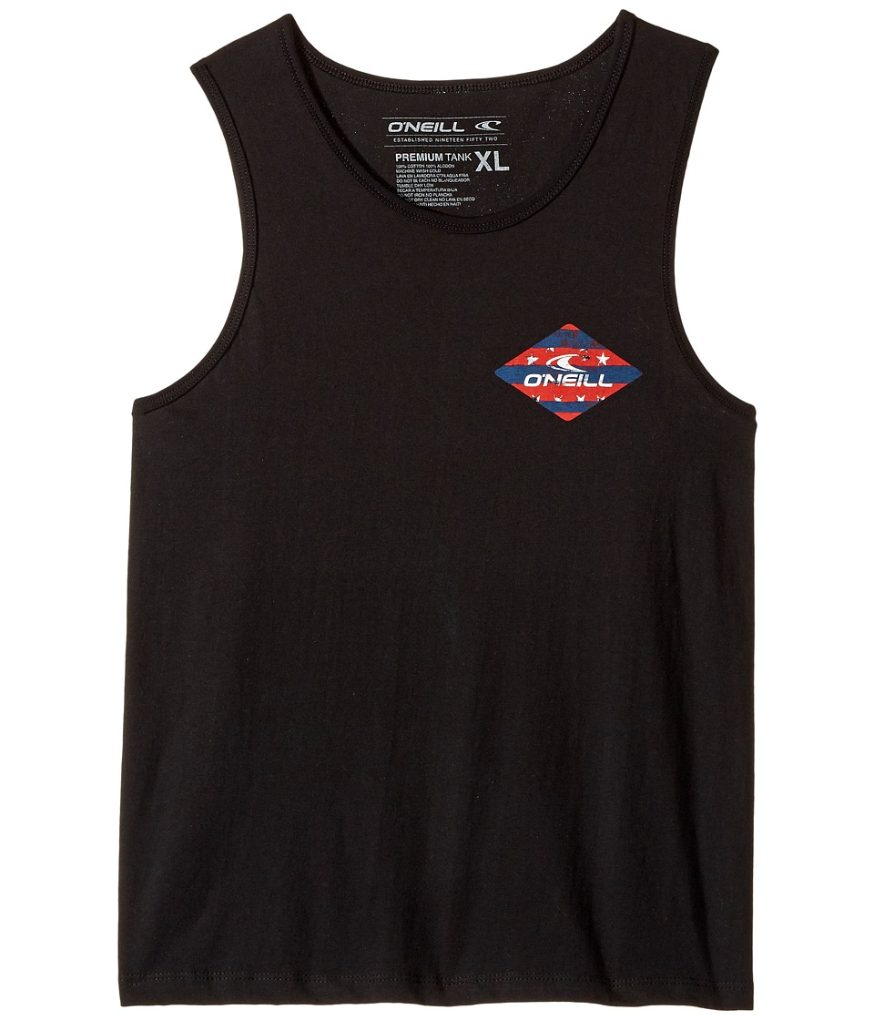 O'Neill Kids - Firework Tank Top (Big Kids) (Black) Boy's Clothing