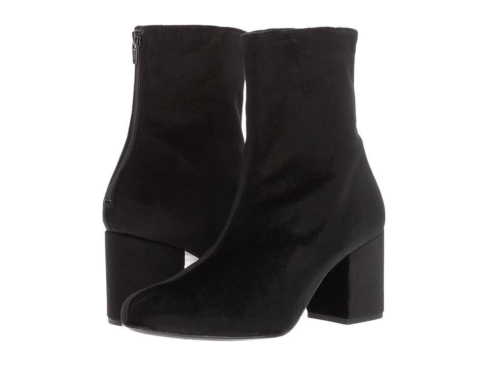Free People Cecile Velvet Boot (Black) Women