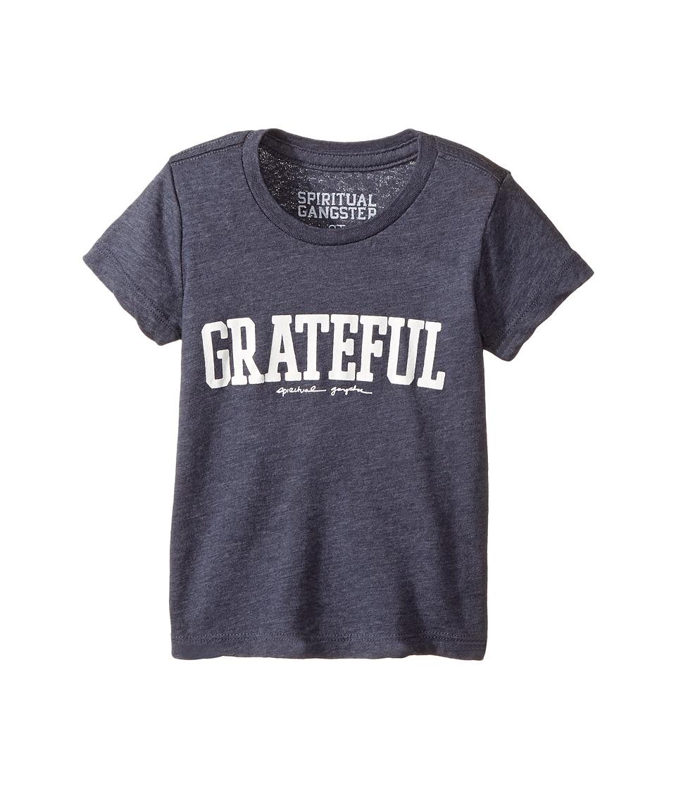 Spiritual Gangster Kids - Grateful Tee (Toddler/Little Kids) (Blue Moon) Kid's T Shirt