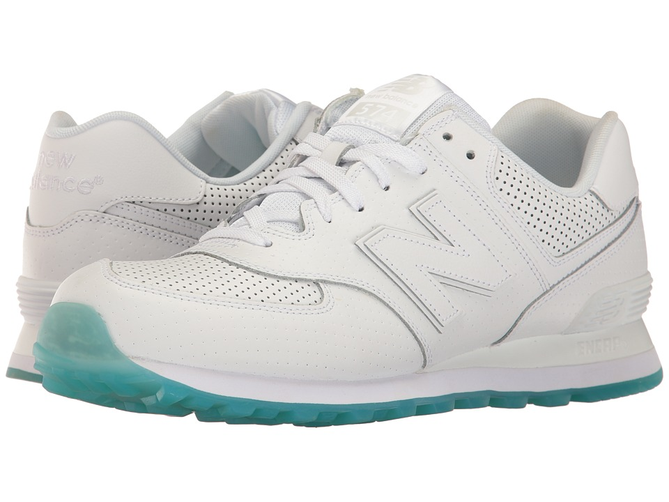 New Balance - ML574PW (White) Men's Shoes