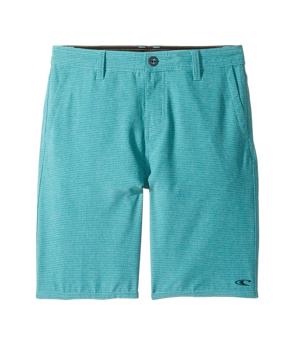 O'Neill Kids - Locked Stripe Hybrid Shorts (Big Kids) (Jade) Boy's Shorts