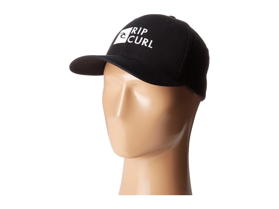 Rip Curl - RC Crew Flexfit Hat (Black) Caps
