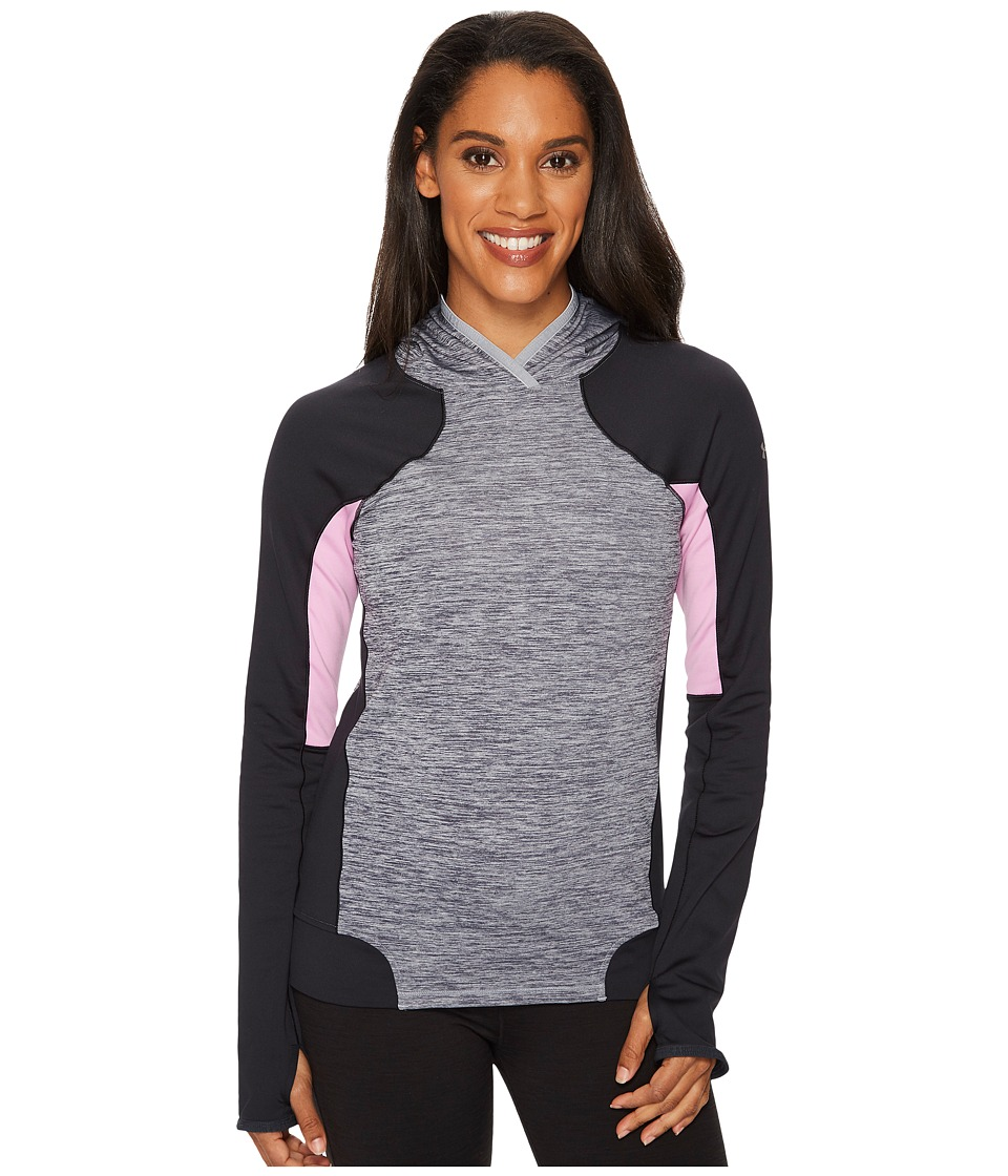 Under Armour UA Coldgear(r) Armour Pullover Hoodie (True Gray Heather/Black/Metallic Silver) Women