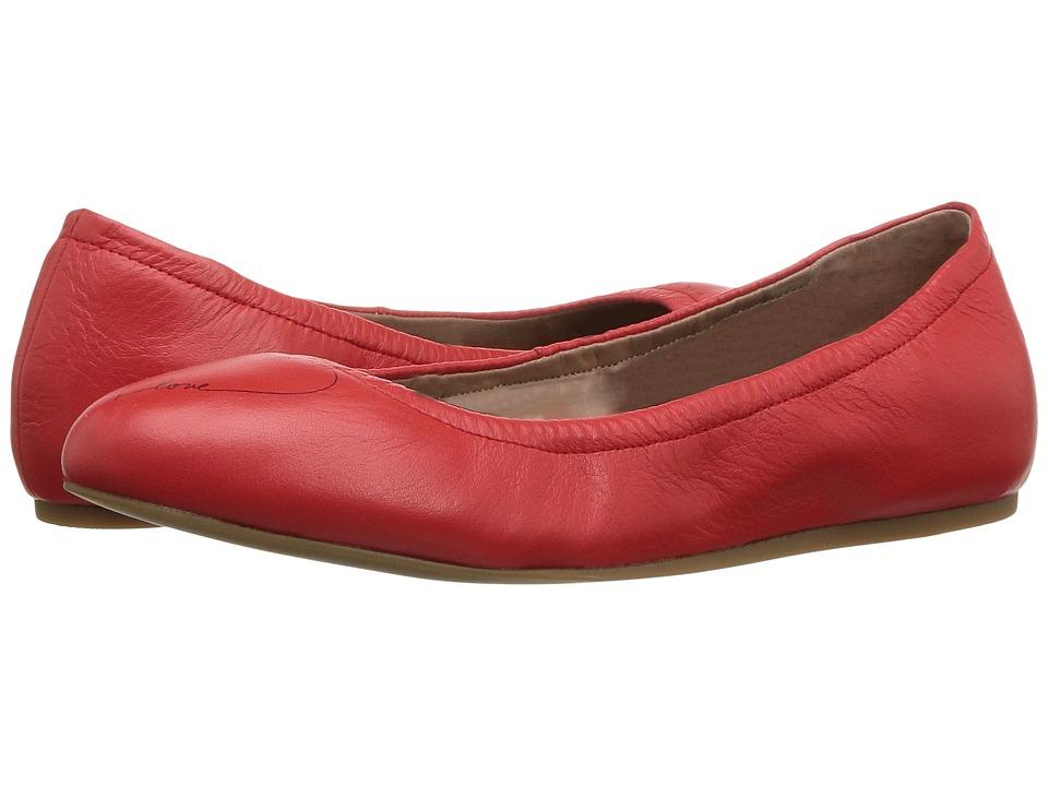ED Ellen DeGeneres - Langston3 (Ruby Slipper/Black Avalon Nappa Heart) Women's Lace up casual Shoes