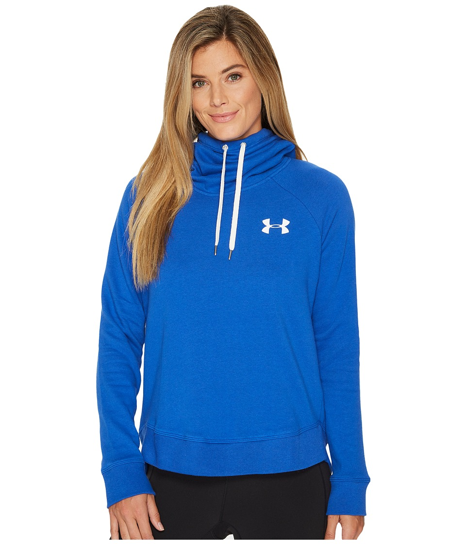 Under Armour Favorite Fleece Pullover Left Chest Hoodie (Lapis Blue/White) Women