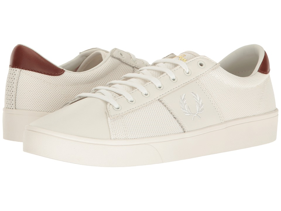 Fred Perry Spencer Mesh/Leather (Porcelain/Snow White) Men