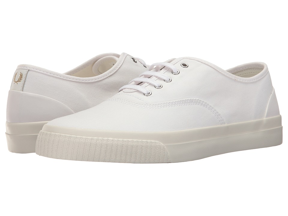 Fred Perry - Barson Canvas (White) Men's Shoes