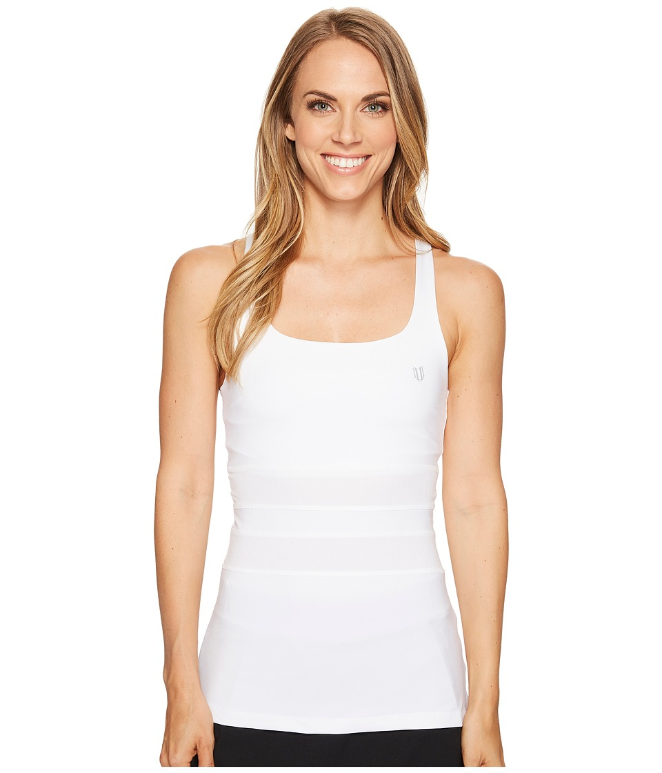 Eleven by Venus Williams - Excel Tank Top (White) Women's Sleeveless