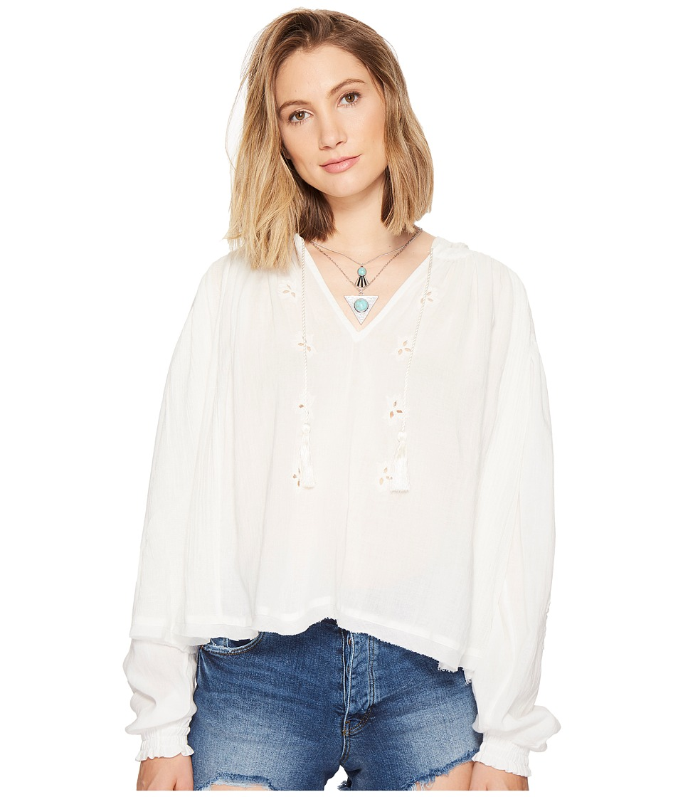 Free People - Tropical Summer Hooded Top (Ivory) Women's Clothing