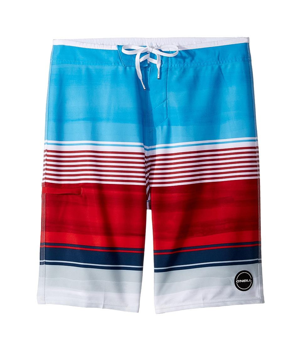 O'Neill Kids - Hyperfreak Heist Boardshorts (Big Kids) (Red/White/Blue 1) Boy's Swimwear