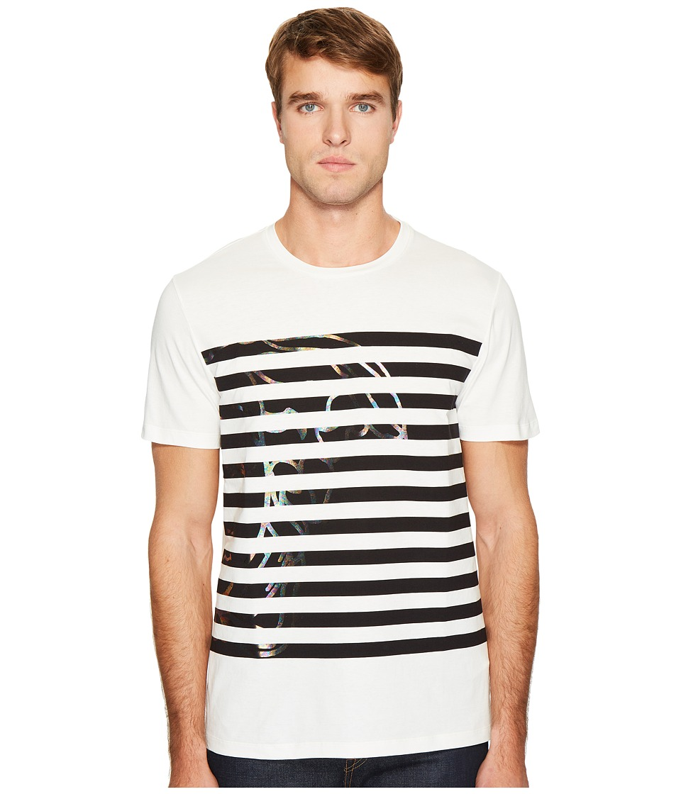 Versace Collection - Stripe Detail T-Shirt (White) Men's T Shirt