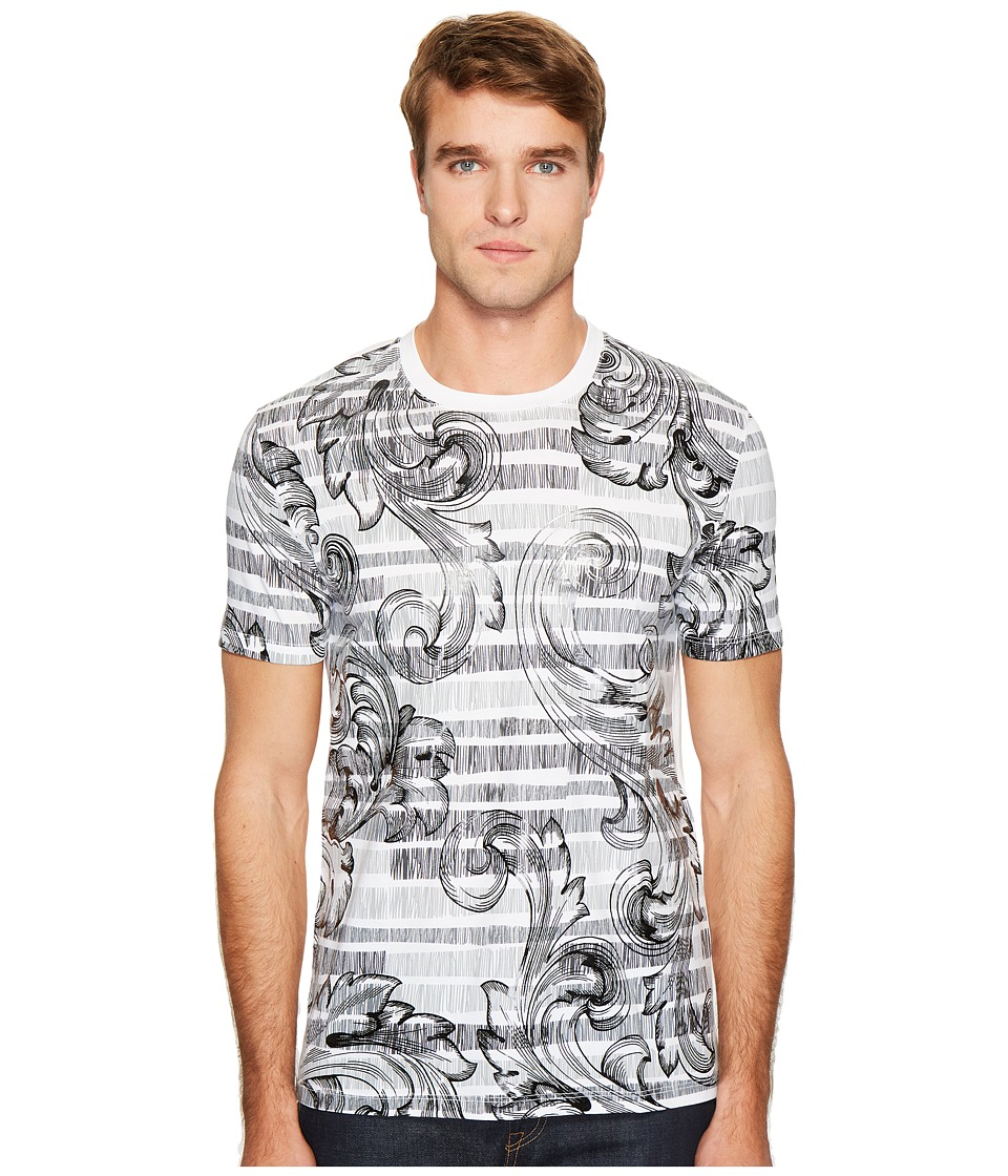 Versace Collection - Print T-Shirt (White/Black) Men's T Shirt