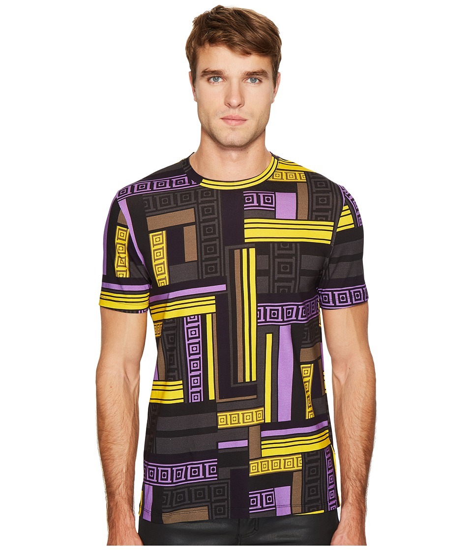 Versace Collection - Linear Print T-Shirt (Lilac) Men's T Shirt