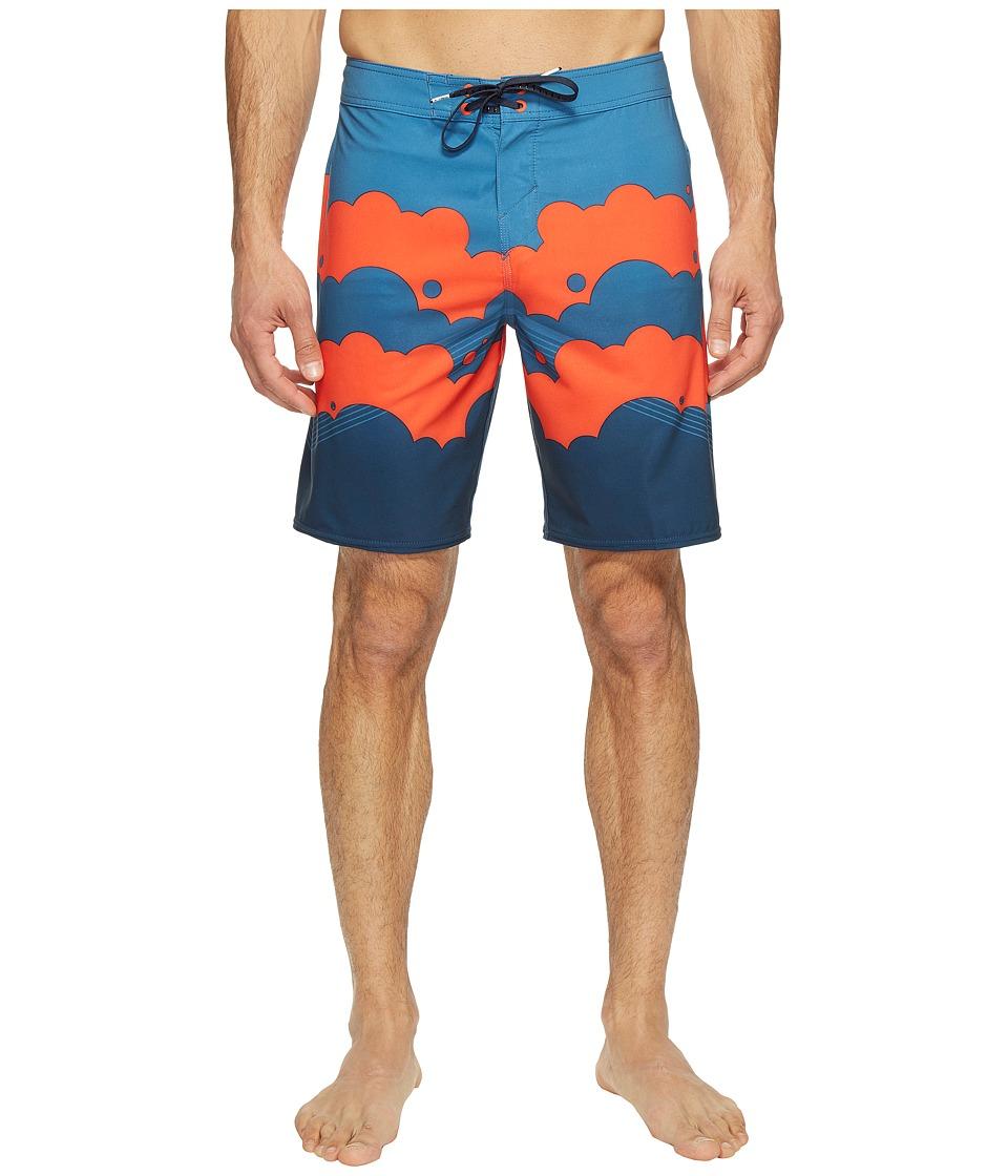 O'Neill - Hyperfreak Brooklyn Clouds Superfreak Series Boardshorts (Navy) Men's Swimwear