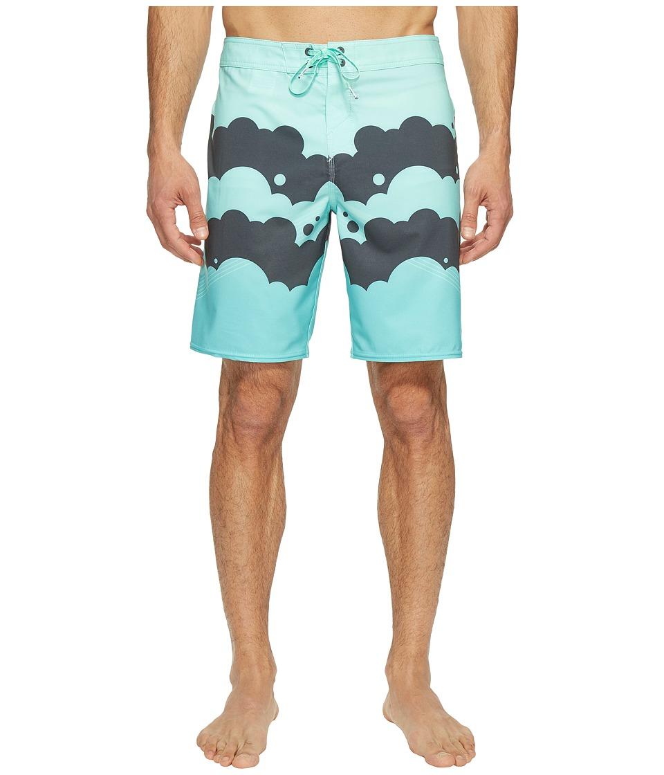 O'Neill - Hyperfreak Brooklyn Clouds Superfreak Series Boardshorts (Aqua) Men's Swimwear