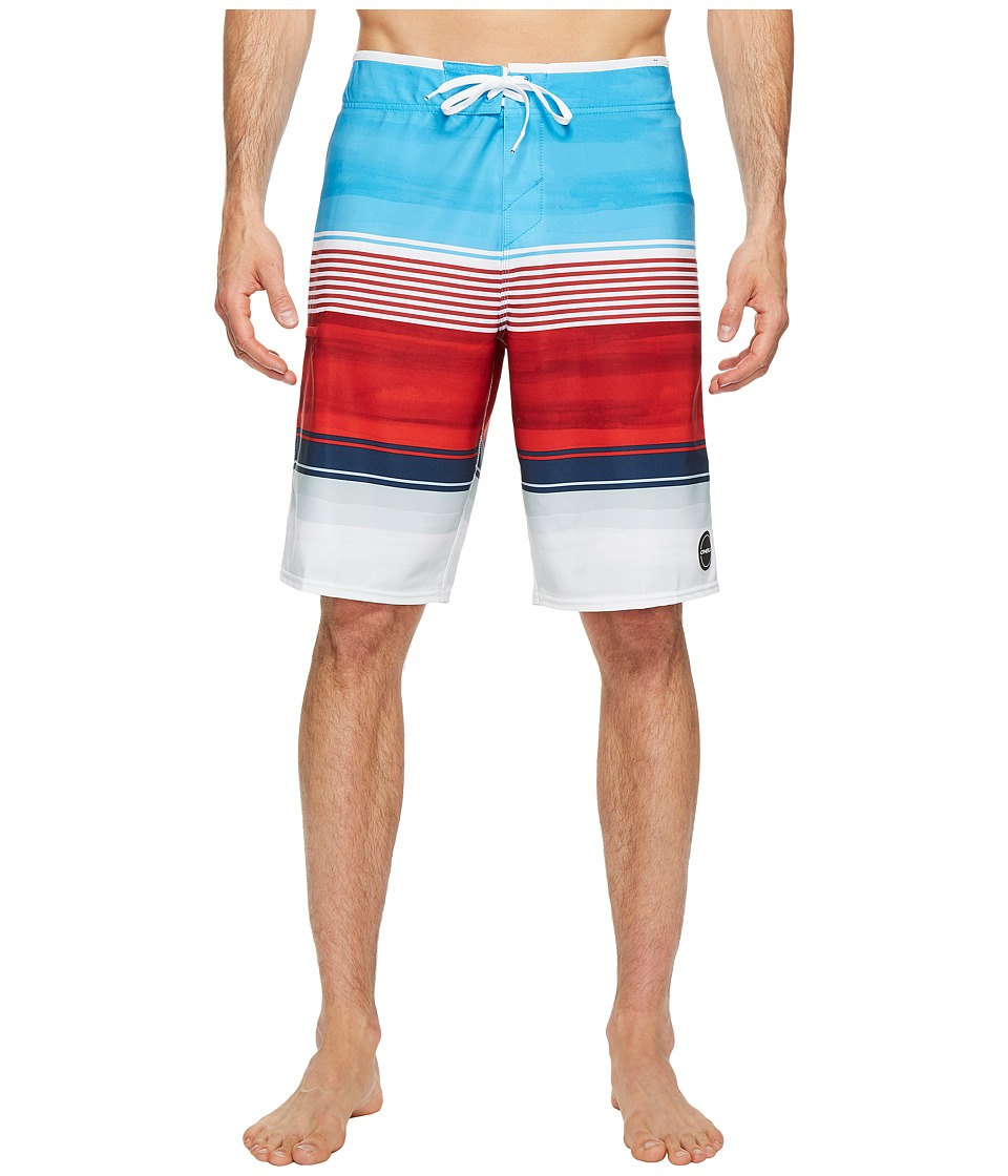 O'Neill - Hyperfreak Heist Superfreak Series Boardshorts (Red/White/Blue) Men's Swimwear