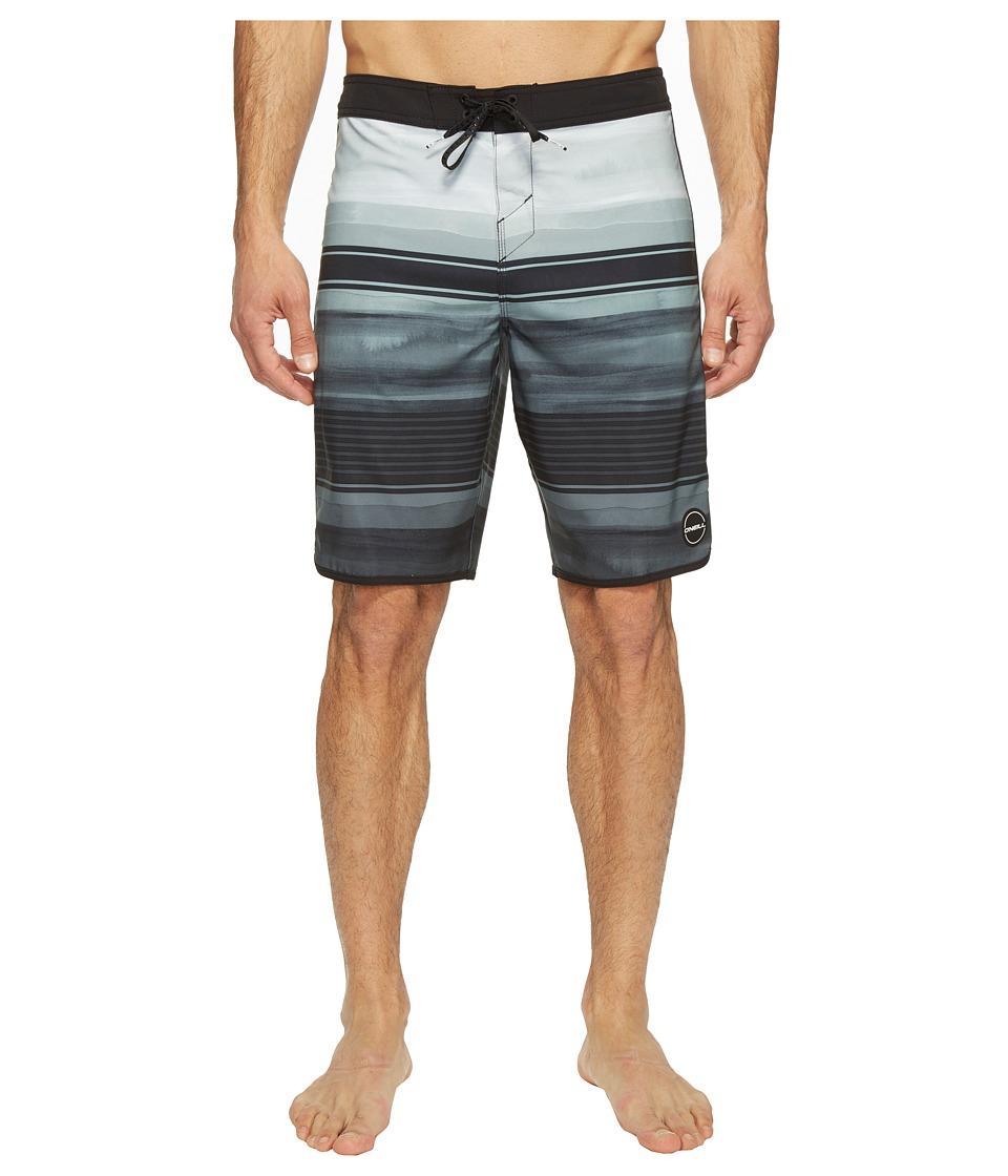 O'Neill - Hyperfreak Heist Scallop Superfreak Series Boardshorts (Black) Men's Swimwear