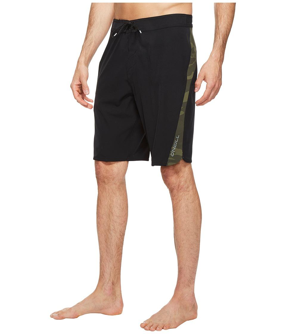 O'Neill - Superfreak Scallop Superfreak Series Boardshorts (Black/Camo) Men's Swimwear