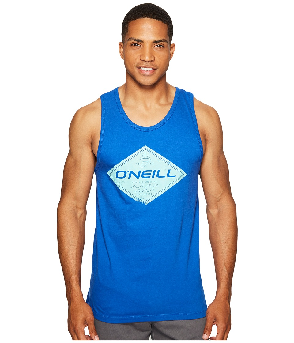 O'Neill - Zebra Tank (Bright Blue) Men's Sleeveless