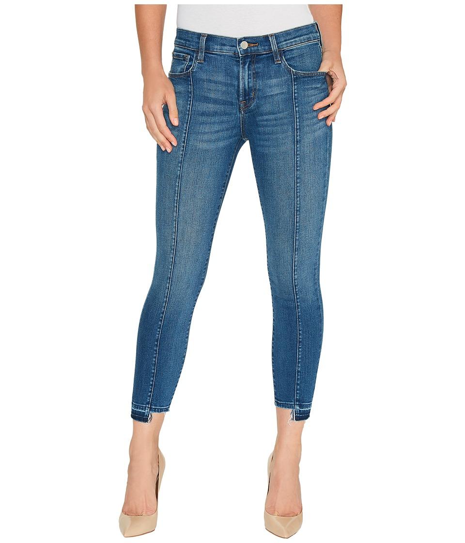 J Brand - Mid-Rise Pintuck Skinny w/ Release Hem in Repose (Repose) Women's Jeans