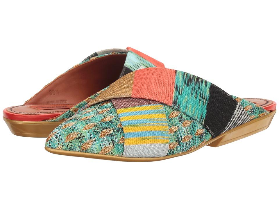 Missoni - Pointed Patchwork Mule (Multicolor) Women's Shoes