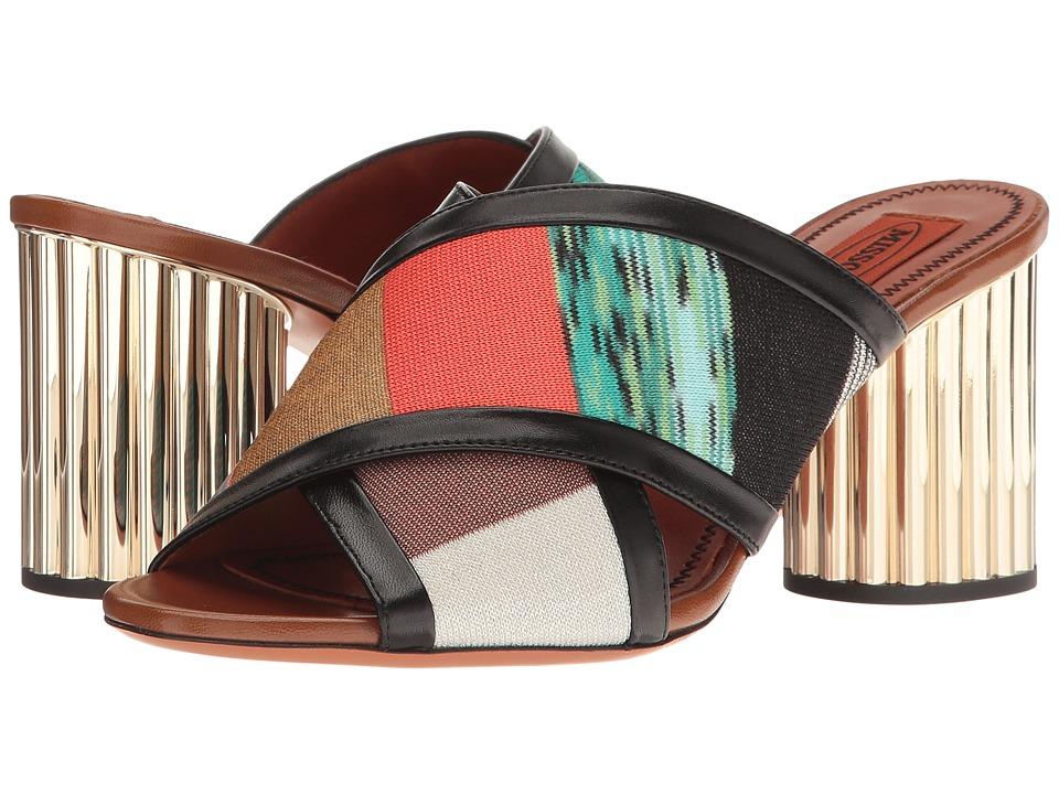 Missoni - Patchwork Heeled Slide (Multicolor) Women's Shoes