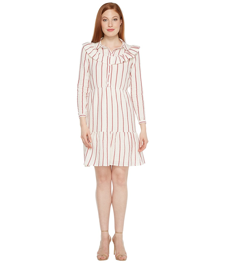 Intropia - Striped Midi Dress (Red Stripe) Women's Dress