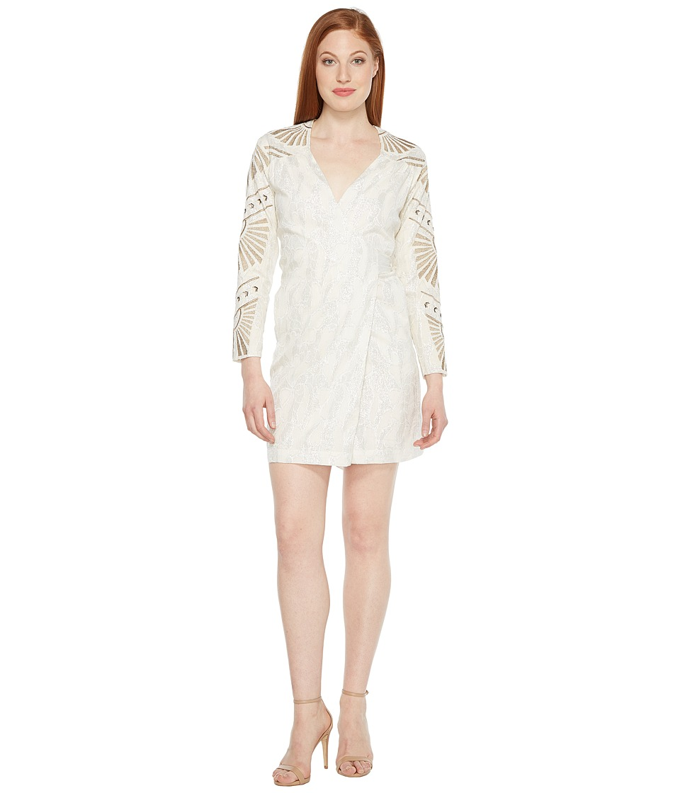 Intropia - Long Sleeve Belted Dress (Silver) Women's Dress