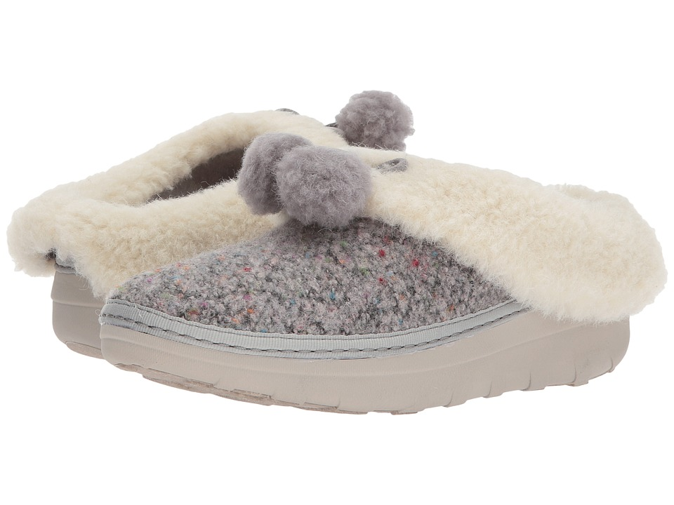 FitFlop Loaff Snug Pom Slippers (Dusty Grey) Women