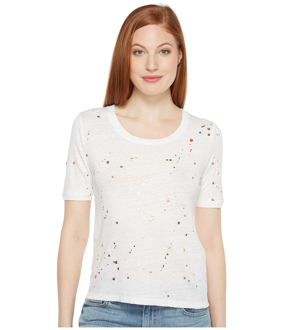 Intropia - Holey T-Shirt (White Print) Women's T Shirt