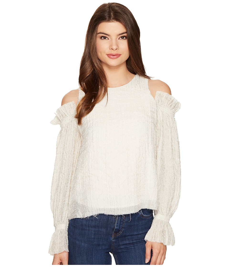 Intropia - Cold Shoulder Ruffle Blouse (Crystal) Women's Blouse