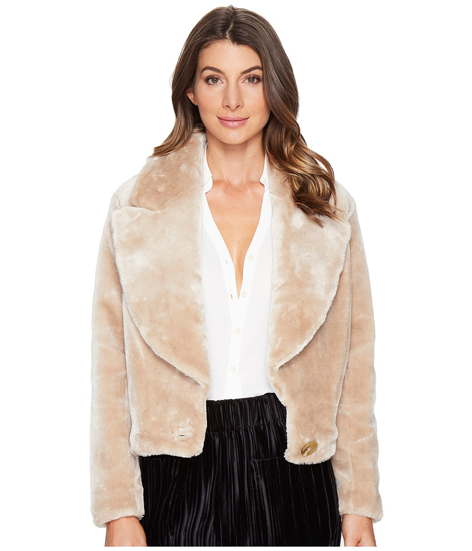 Intropia - Teddy Jacket (Camel) Women's Coat