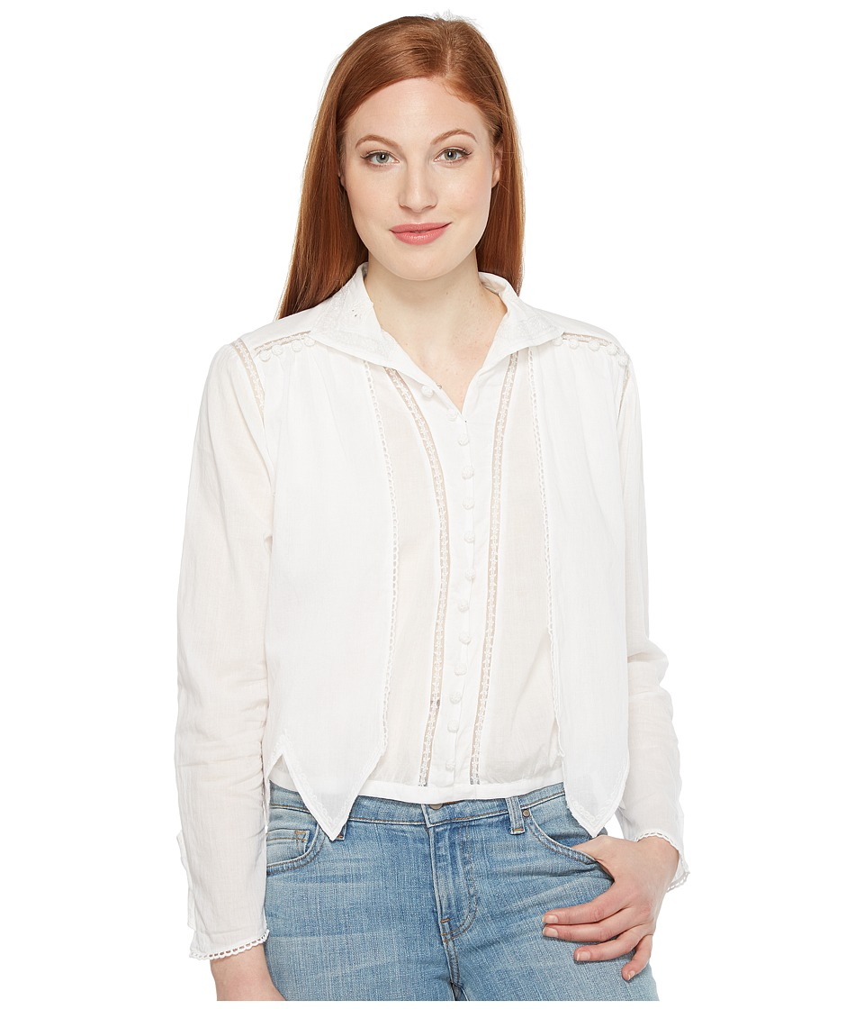 Intropia - Button Front Blouse (White) Women's Blouse